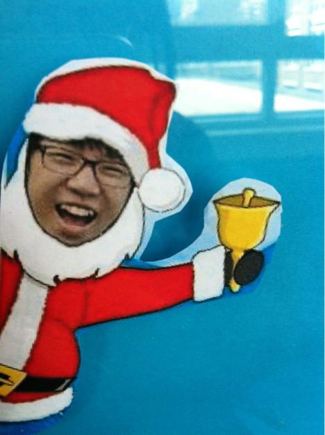 老师做的恶搞圣诞老人头像.(^^)很可爱
