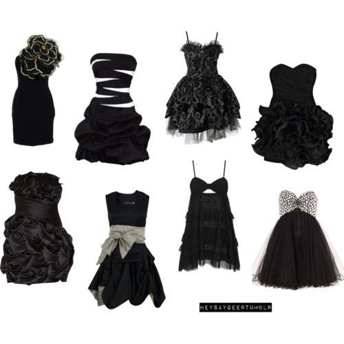 黑色的小礼服