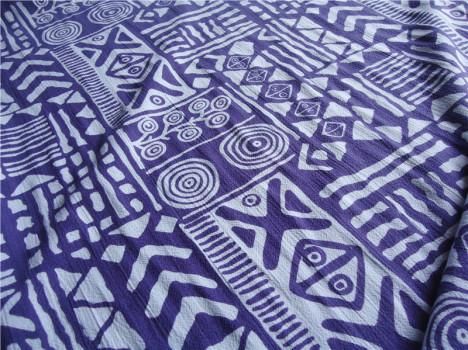 棉 绵绸 几何抽象画