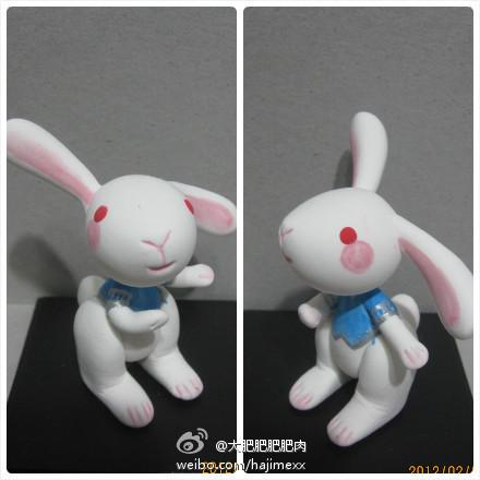 最萌最可爱的小兔子超轻粘土