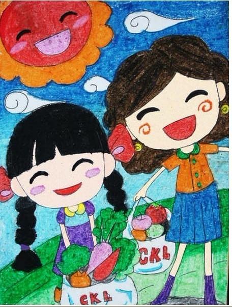 以前交小朋友画画的时候画的···呵呵··· - 蘑菇