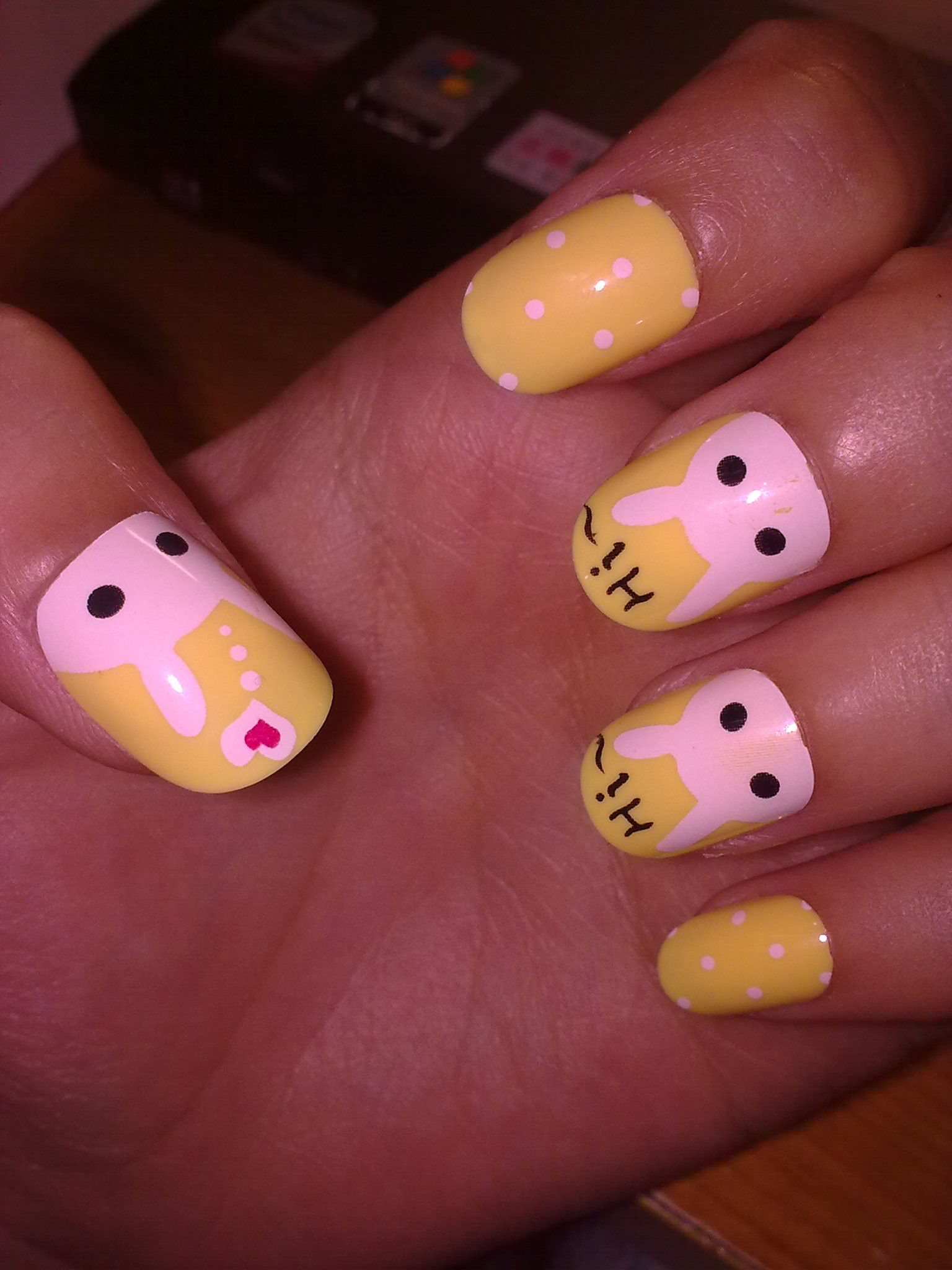 【图】网友推荐单品:超可爱短指甲 超萌的小兔兔 奶黄