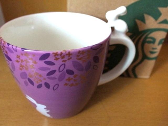 送给闺蜜的!紫色的杯身加立体.
