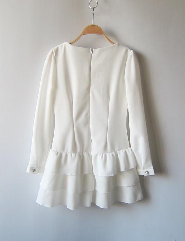 【荷叶边鱼尾裙连衣裙】-衣服--nico家女装-蘑菇街