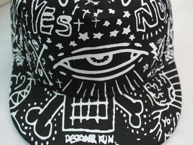 【权志龙男女涂鸦眼睛街舞嘻哈帽】-配饰-搭配女郎