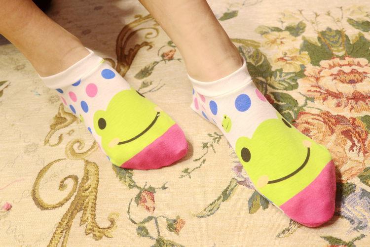 超萌卡通袜子 可爱全棉短袜