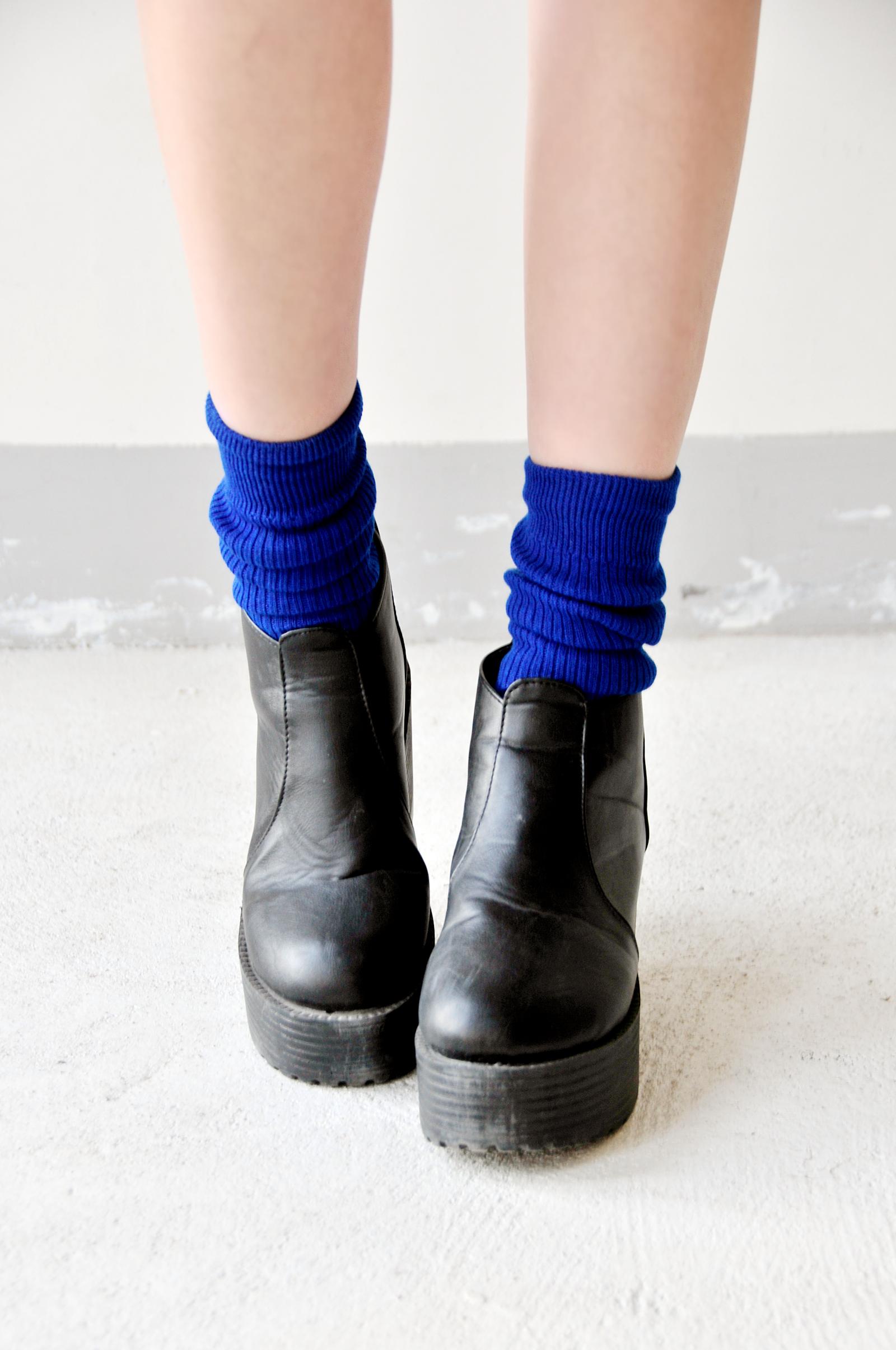 搭配小秘书 糖果色的短袜