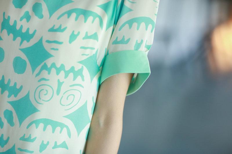 【南瓜笑脸短袖雪纺连衣裙】-衣服--梦幻衣橱天使-街