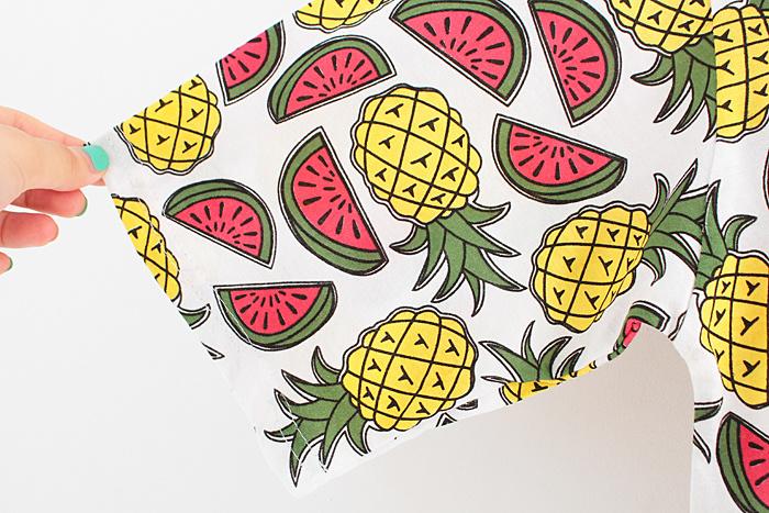 水果菠萝西瓜图案印花t恤