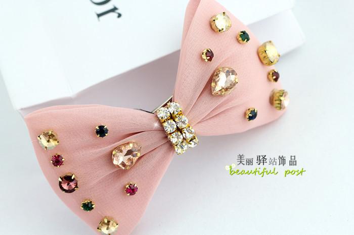 韩版小清新可爱蝴蝶结发夹