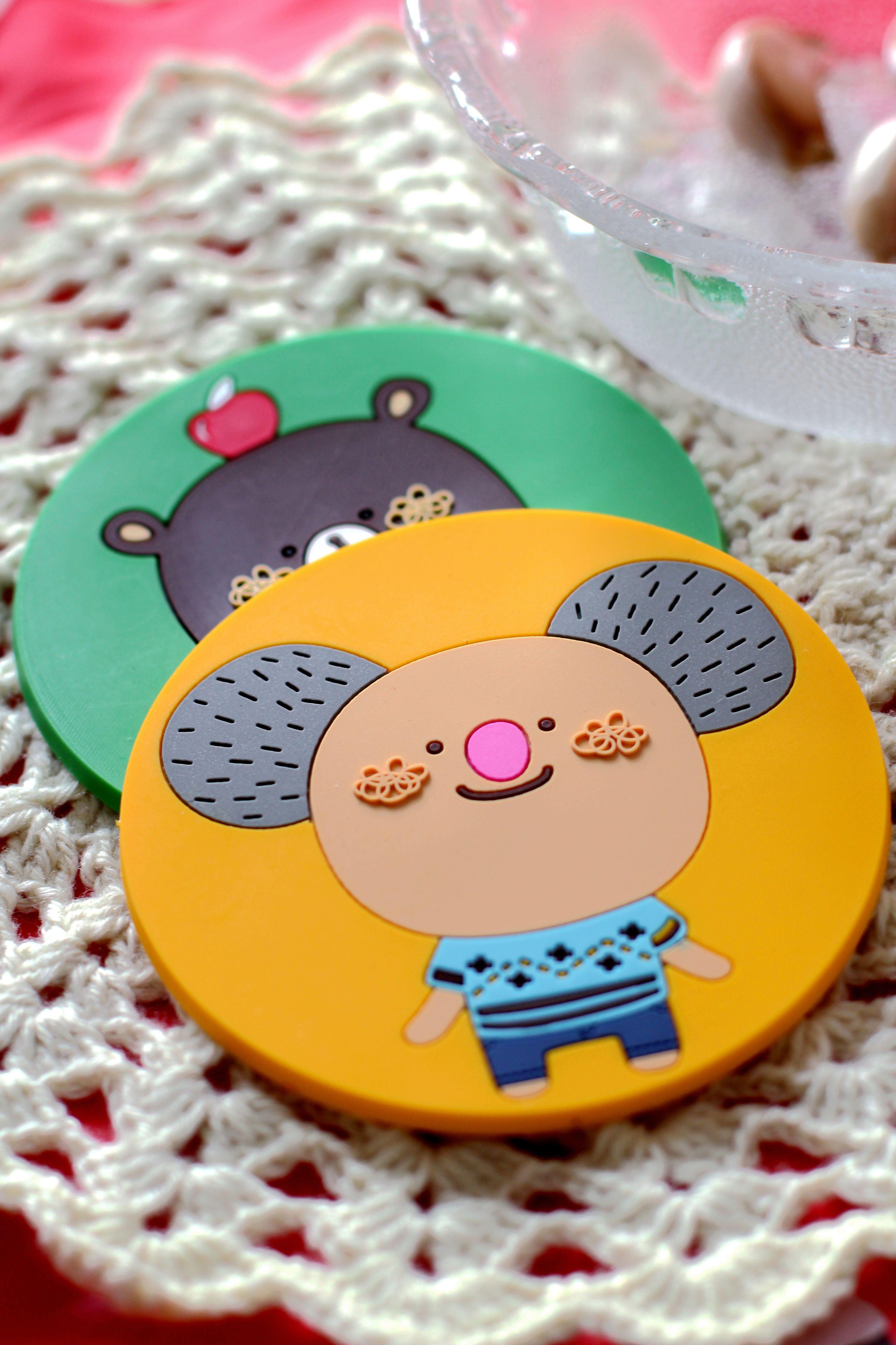创意卡通杯垫,超q,超萌的小动物,用起来心情好好哦~超
