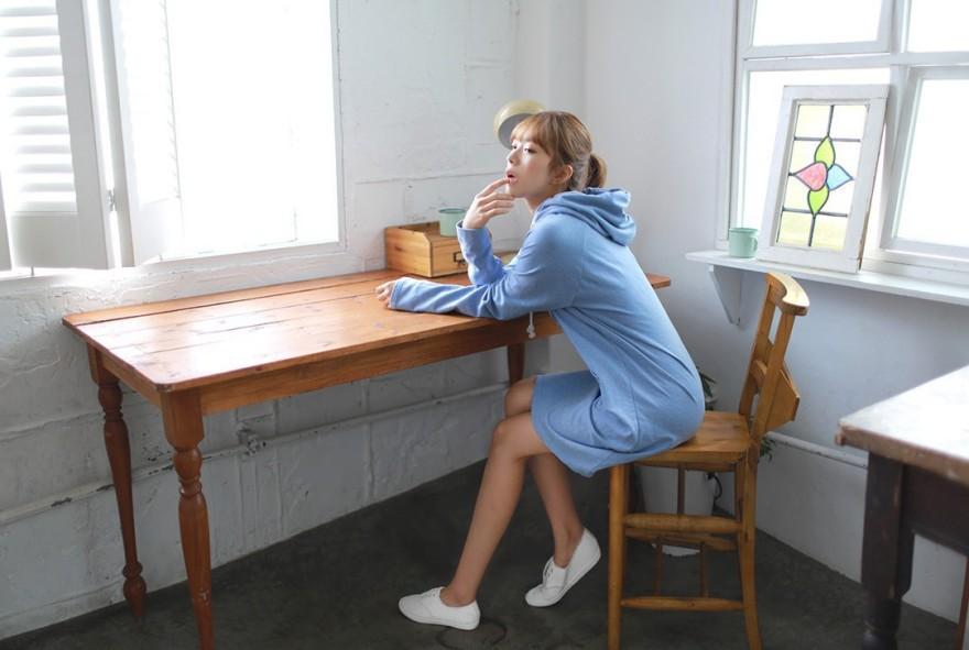 休闲卫衣连衣裙