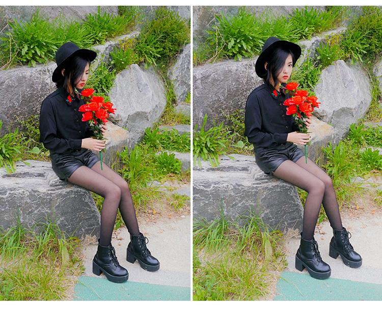【立体刺绣小花朵衬衫】-衣服-衬衫