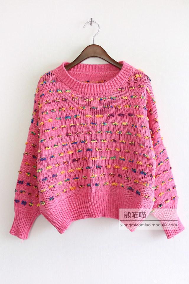 彩色线球可爱毛衣