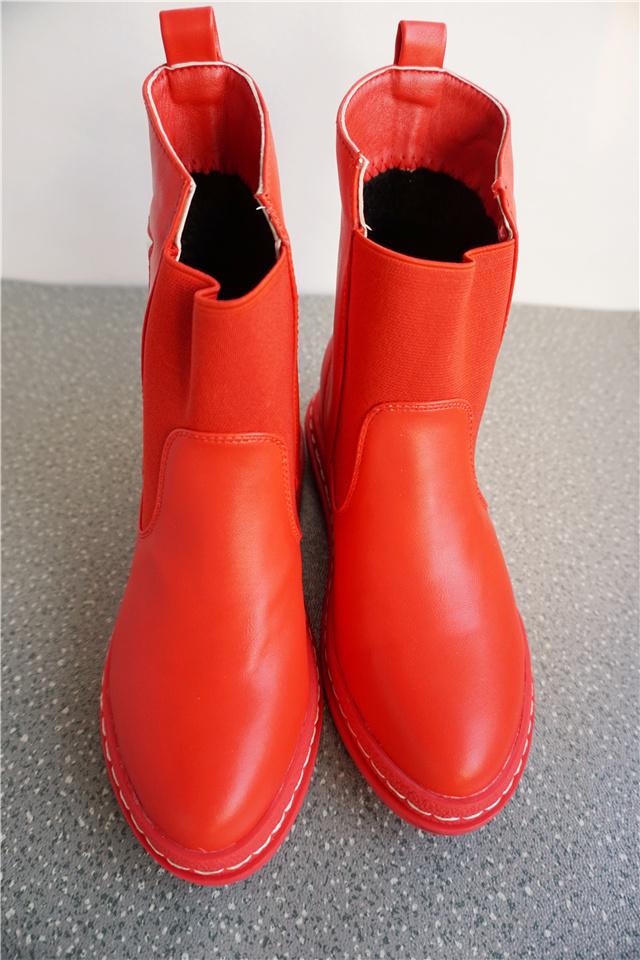 可爱星星学生加绒短靴
