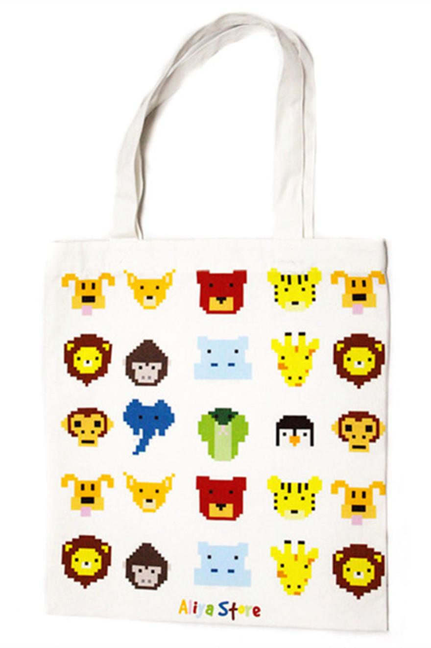 【aliya/像素小动物环保袋】-收纳包