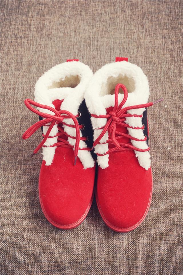 【公主日记 可爱小夹袄大码棉靴】-鞋子-雪地靴_女鞋