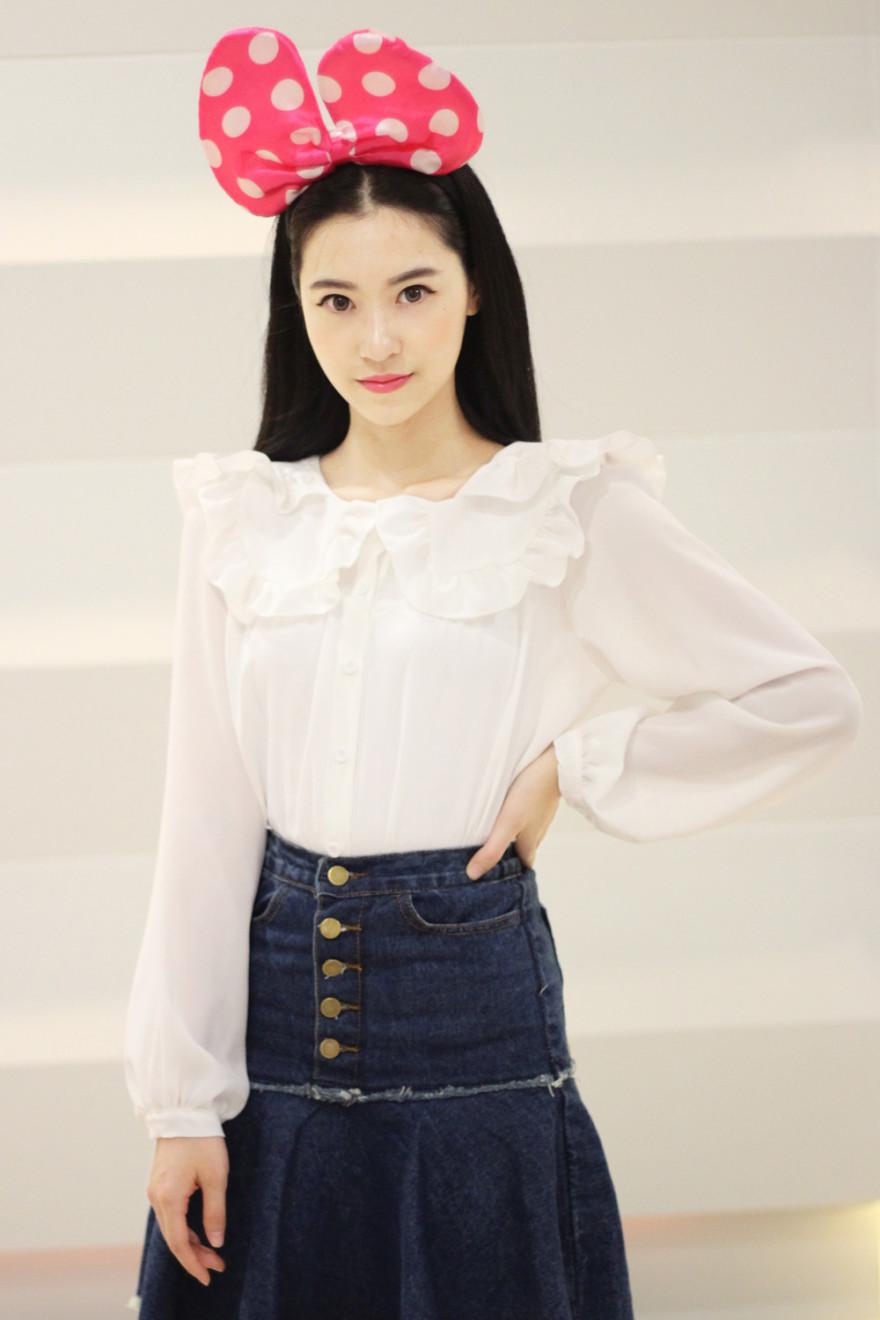 【减龄可爱娃娃领衬衫】-衣服-衬衫_上装_女装_服饰鞋