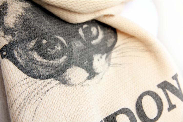 萌萌哒超可爱小猫咪印花加厚围巾