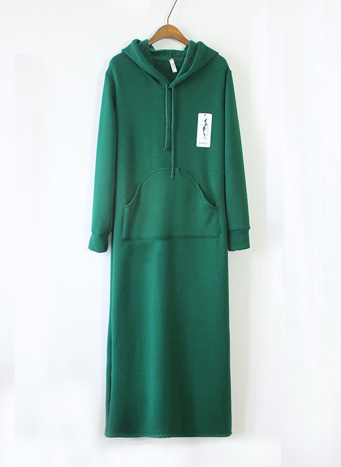 【连帽长袖连衣裙】-衣服-连衣裙