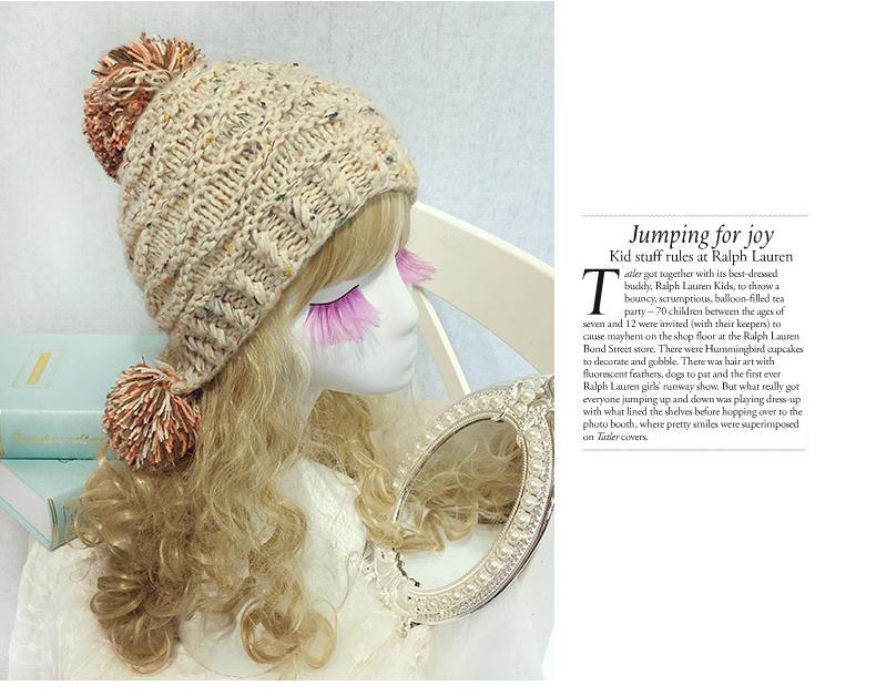韩国手工编织可爱毛线护耳帽子