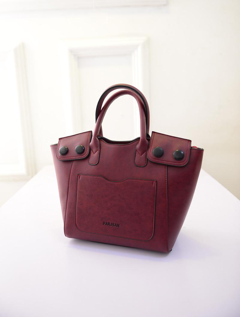 【韩版新款扣子手提包】-包包-手提包