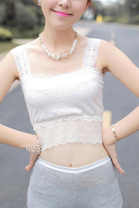 白色蕾丝花边小内裤