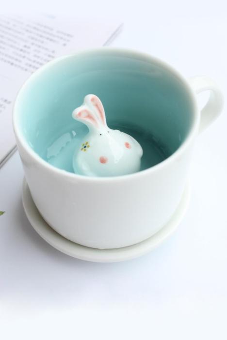 可爱卡通兔子动物杯子