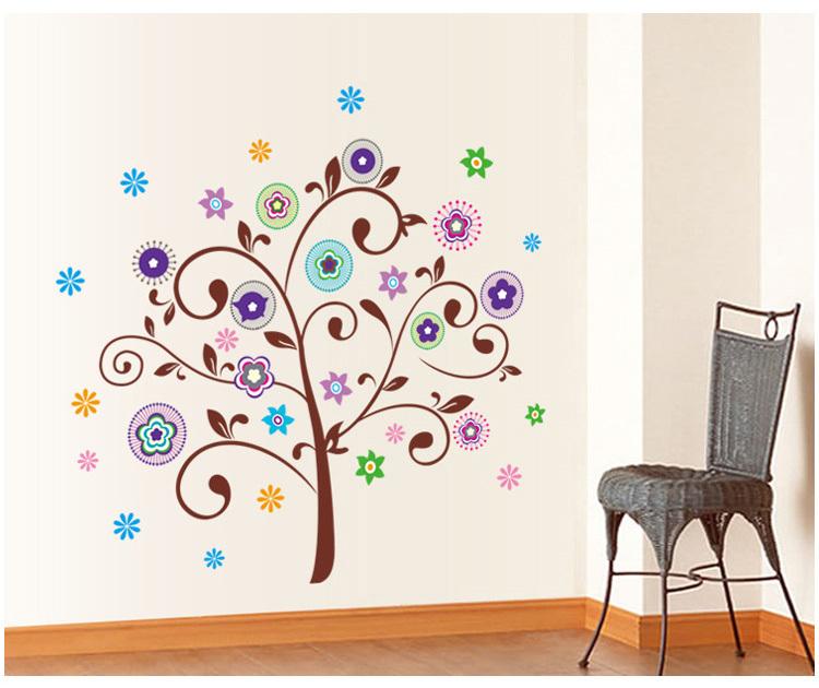 可爱的花纹树,给人梦幻的感觉