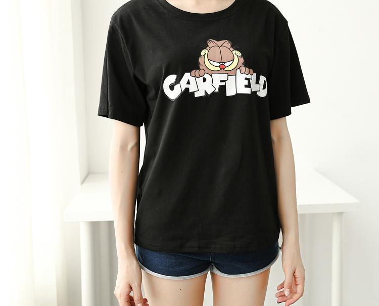 加菲猫黑色卡通