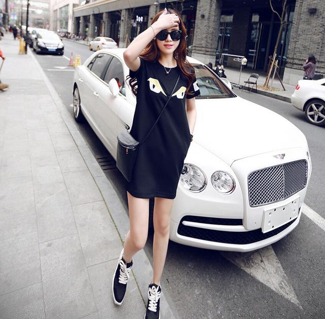 韩国时尚 欧美街头造型感t恤