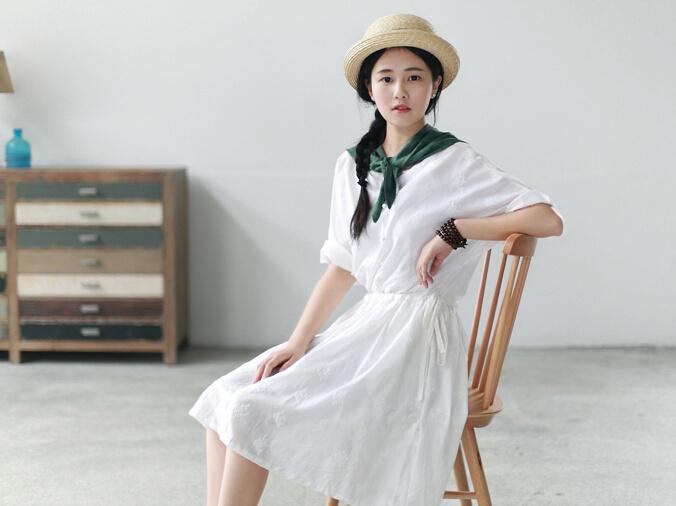 【文艺森系小清新连衣裙】-衣服-连衣裙_裙子_女装_鞋