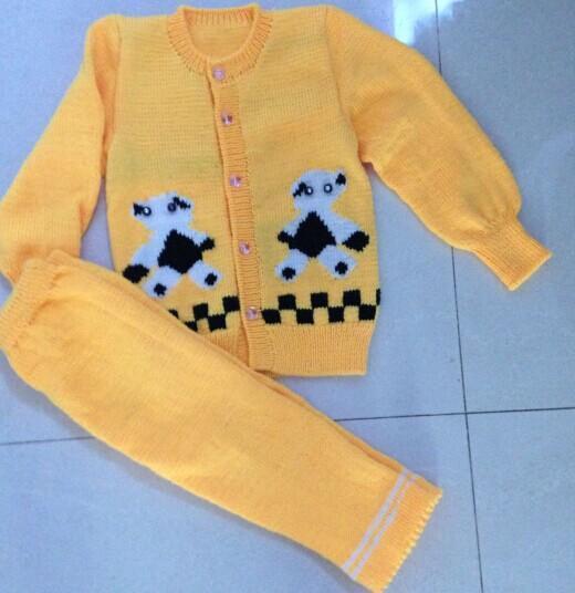 纯手工编织儿童毛衣新款宝宝婴儿