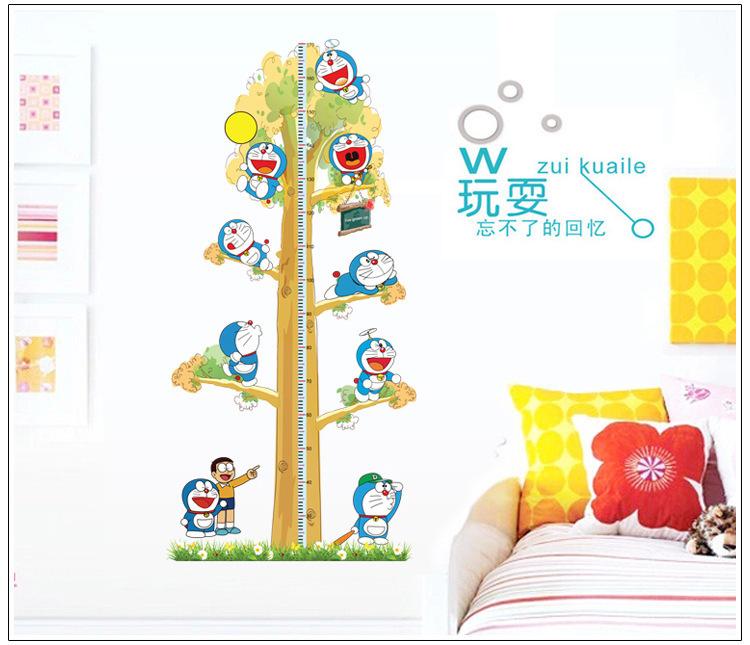 超大儿童身高贴 幼儿园教室宝宝房间卡通大象动物叮当猫量身高尺