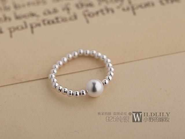 s925纯银 转运珠戒指