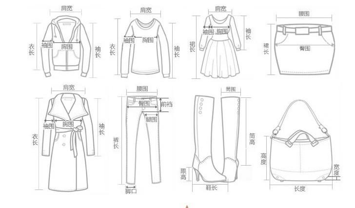 复古衣服手绘款式图