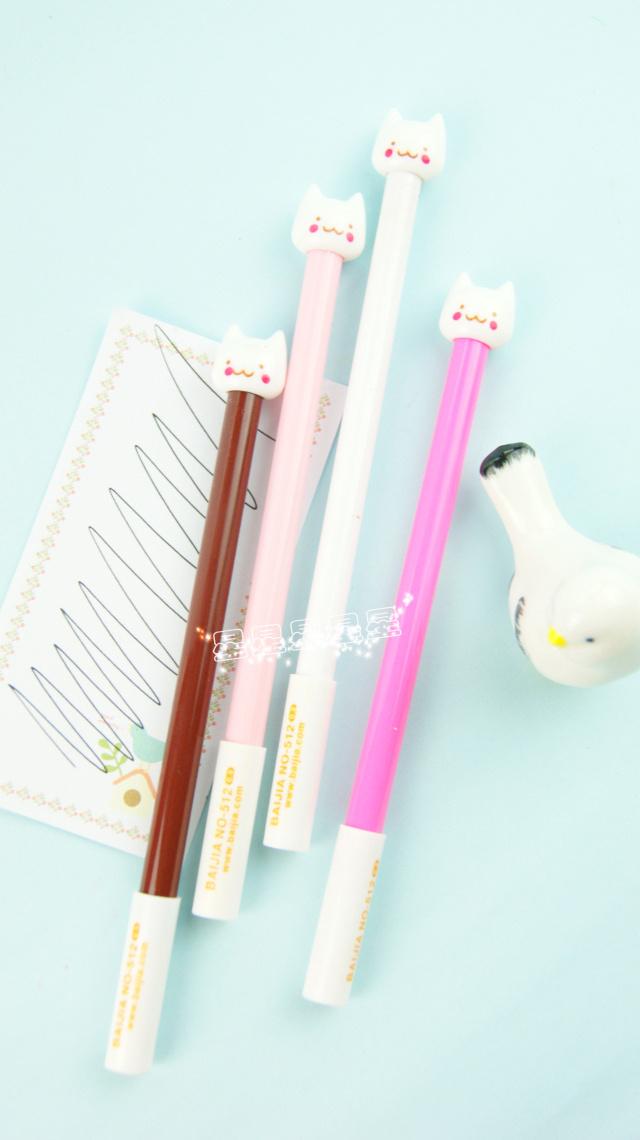 卖萌韩国文具巨可爱小猫咪中性笔