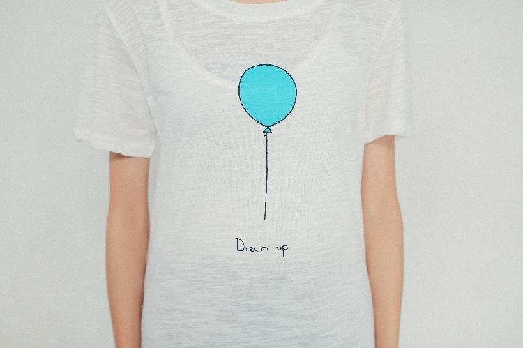 【佐妮】气球印花短袖t恤