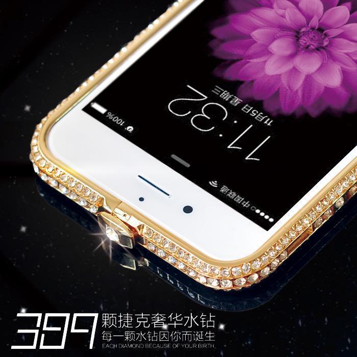 iphone6水钻边框 iphone5金属壳超薄 苹果5s手机壳 钻石边框4.7寸