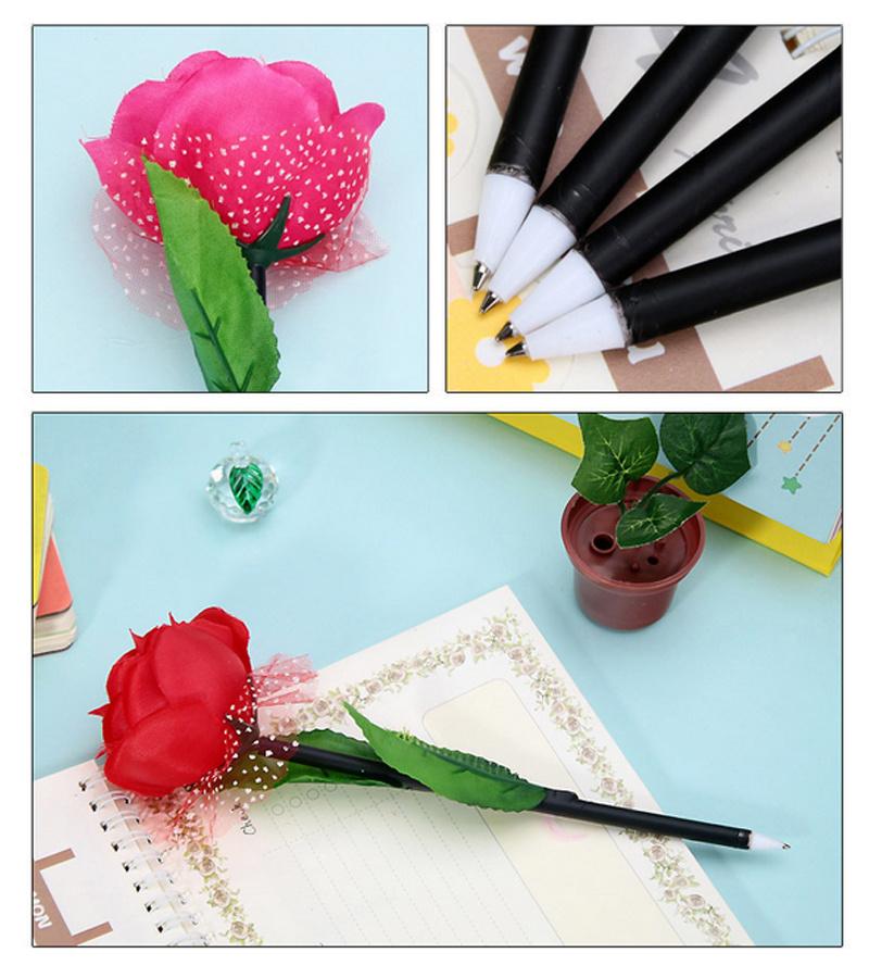 精美创意玫瑰花盆栽圆珠笔10支