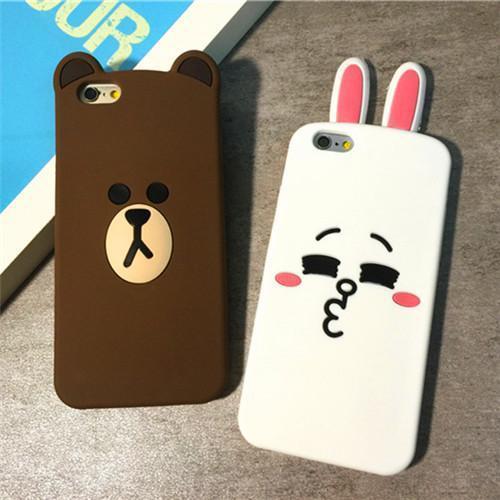 韩国苹果6可爱表情兔子ipho