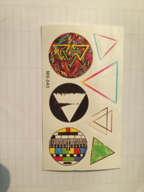 三角形矢量图纹身