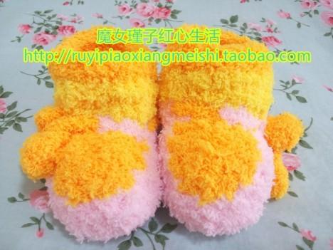 【全新纯手工编织毛线毛巾线珊瑚绒婴幼儿童甜美蛋糕