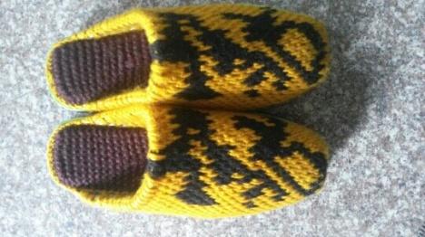 勾织宝宝鞋子 步骤