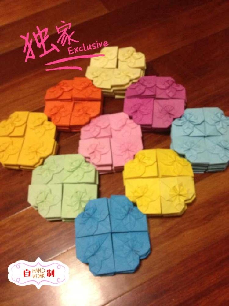 我的闲置#各色折纸爱心,纯手工制作,可送爱人,朋友,闺蜜,父母!