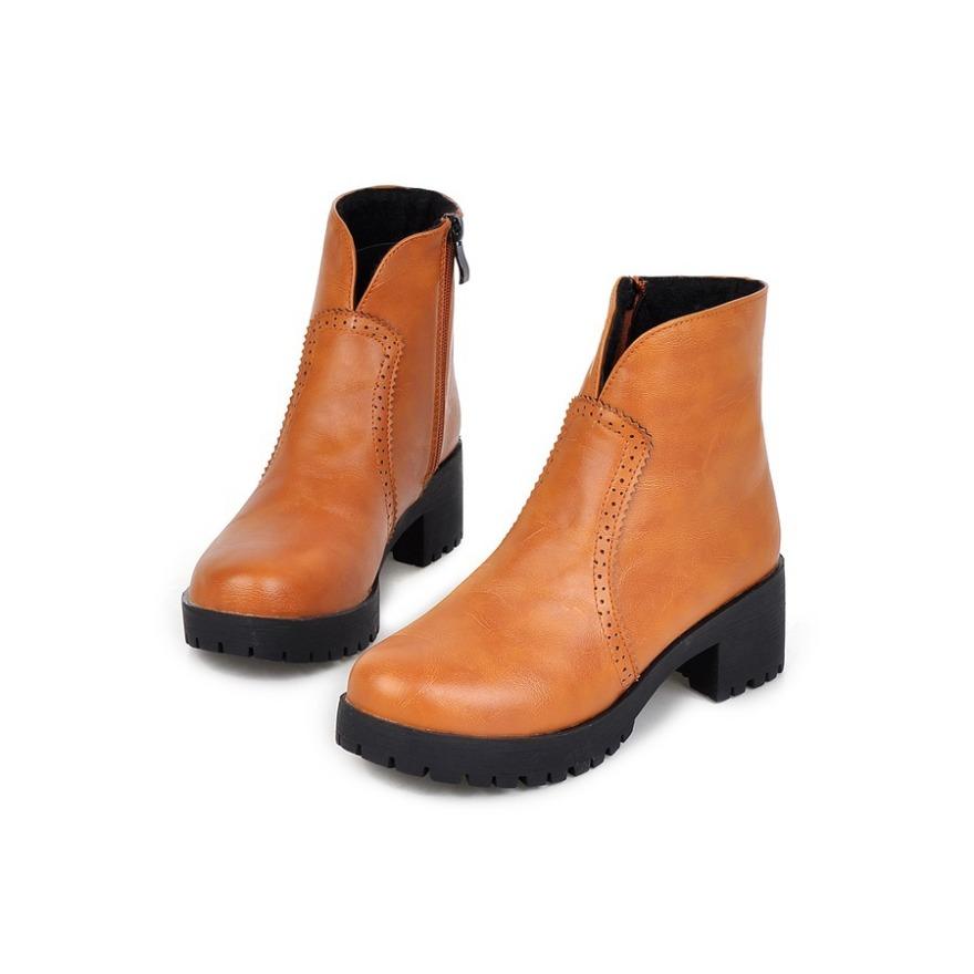 【《洛丽塔》英伦复古中跟短靴】-鞋子-靴子_女鞋_鞋