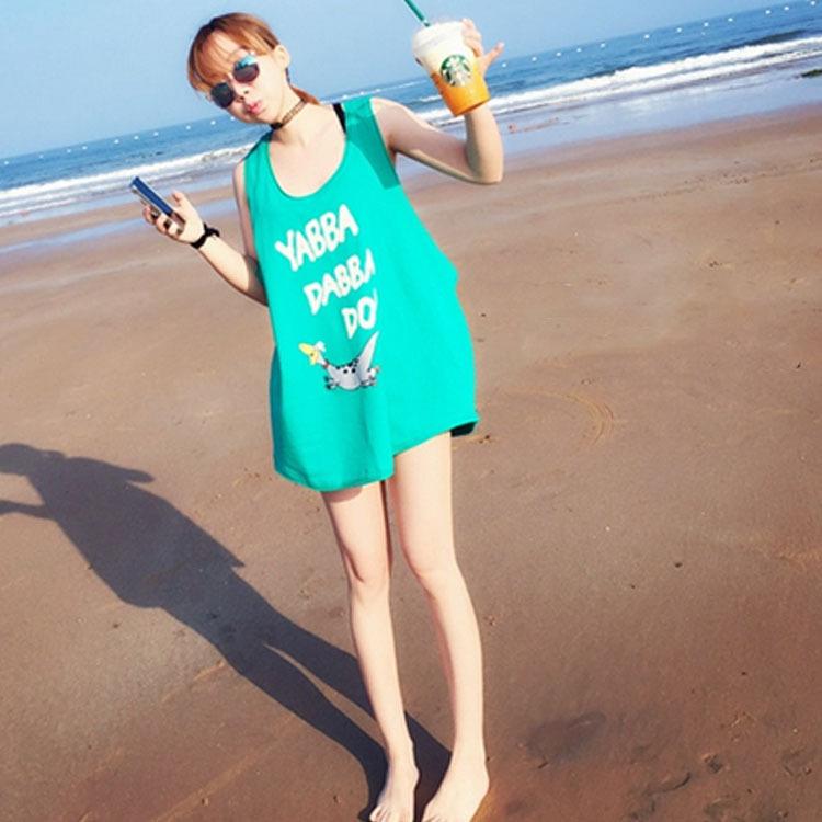 2015夏季新款韩版女装卡通小恐龙图案宽松百搭休闲t恤