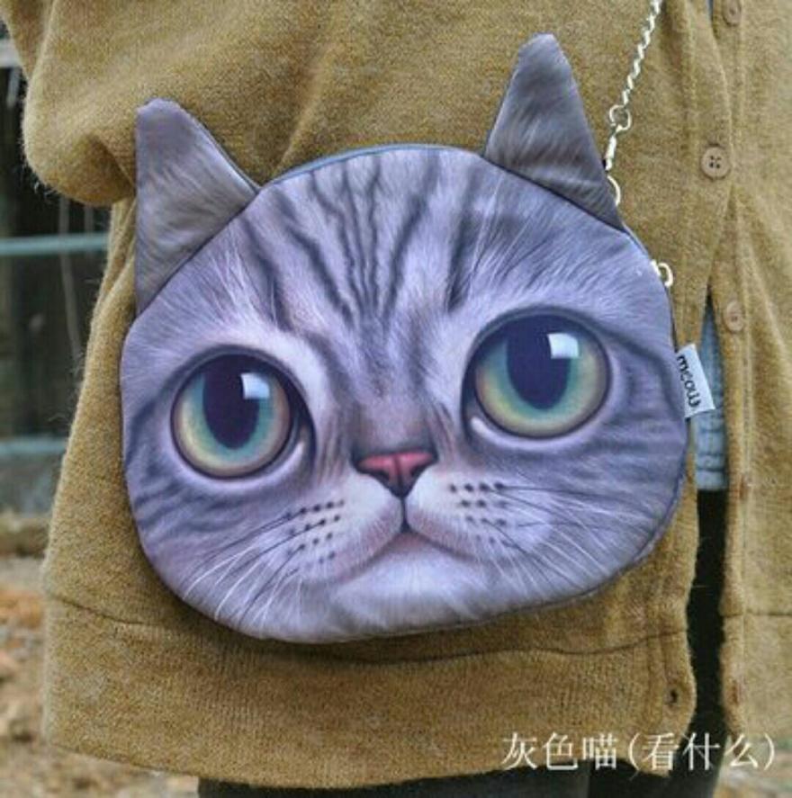 新款老虎豹喵星人 猫头动物背包