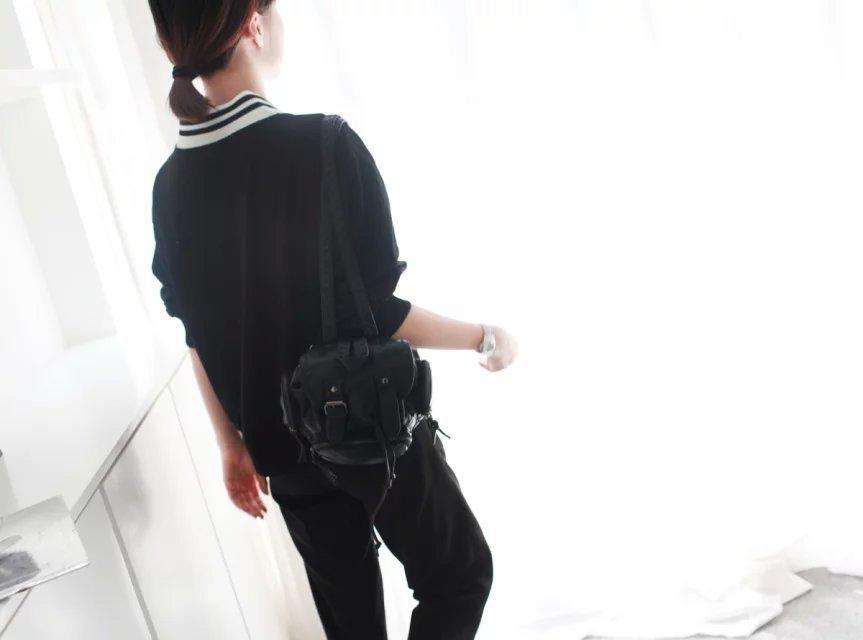 【森林小红帽】韩版东大门 大v领秋款时尚长袖卫衣