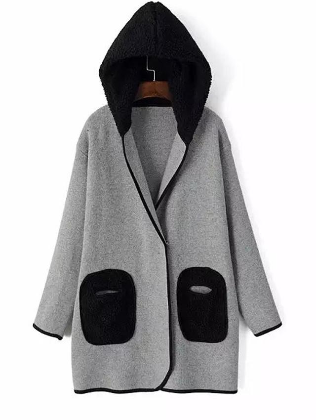 【中长款连帽长袖针织毛衣外套】-衣服-毛衣_上装__鞋